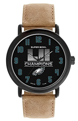 Philadelphia Eagles Super Bowl LII Watch GameTime Mens Leather Throw Back