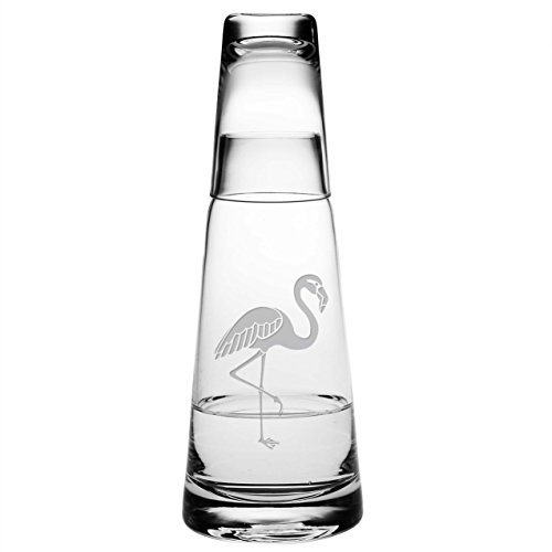 Susquehanna Glass Flamingo Cone Night Bottle Set ()