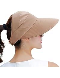 cc566d36787 Sun Hats Women Wide Brim UV Protection Visor Floppy Beach Summer Packable Hat  Caps