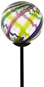 Kitras Celebration Glass Solar Light Glass Ornament, Yippee