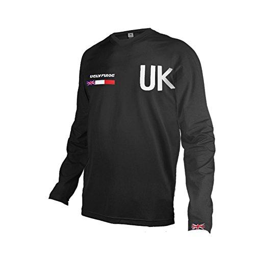 Uglyfrog Downhill Jersey Motorbikes Protective Clothing Long Sleeve Winter Fleece Warm Cycling Retro Bike Shirt -