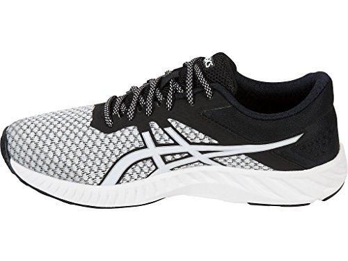 Asics fuzeX Lyte 2Zapatillas de running de la mujer blanco, negro y plateado