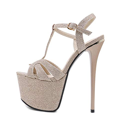 Fairy music 2019 New Gladiator Ankle Strap Women Sandals Women Sexy Sequined Cloth Women high-Heeled -
