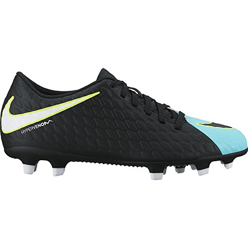 Women's Nike Hypervenom Phade III FG Soccer Cleat Light Aqua/White/Black Size 9.5 M US