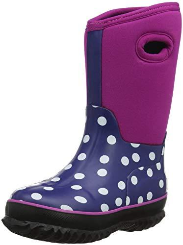 Hatley Girls' Little Neoprene Boots, Polka dots, 13 US Child