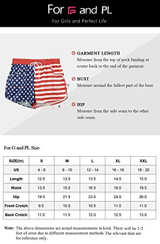 For G and PL Women Summer Floral Prited Beach Shorts