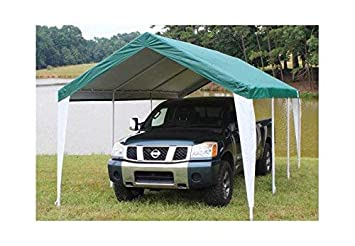 King Canopy Fitted Replacement Cover with Leg Skirt in Green and White 764795