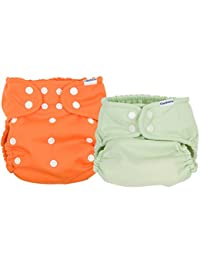 Gerber 2 Piece It's a Snap All-in-One Cloth Diaper, Orange/Green BOBEBE Online Baby Store From New York to Miami and Los Angeles