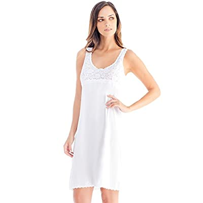 Ilusion 2080 - Women's Plus Size Satin Lace Full Slip