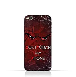 HTCOne X9 TPU Silicone Case With Don't Touch My Phone 3 Design