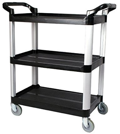 Utility Cart – 3 Shelf – Black