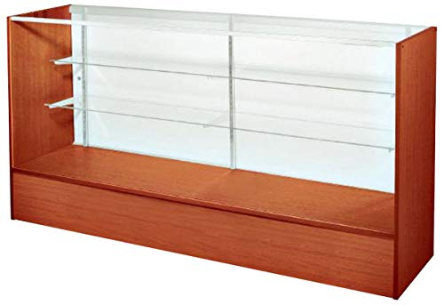 60 Inch Full Vision Display Case Ratchet Lock Retail Store Fixture knockdown Cherry New ()