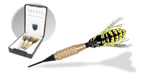 Dart World 86116 Hornet Brass Soft Tip Dart (Custom Dart Flights)