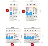 ELECTRONIC-MEI DZ47LE-63 Overload Protection ELCB Earth Leakage Circuit Breaker,4PolesNumber,10A
