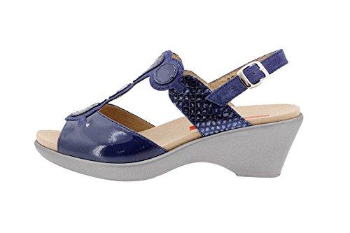 PieSanto Komfort Damenlederschuh 1857 Sandale mit Herausnehmbarem Fußbett Bequem Breit Marino
