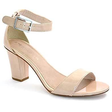 Tamaris Beige Heel Sandal For Women
