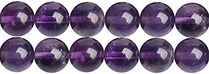 Piedra Preciosa de Amatista Natural y Cristal Abalorios de 6mm para Fabricar Joyas Collares Pulsera Pendientes Cerca de los 38cm Aprox 60 Piezas