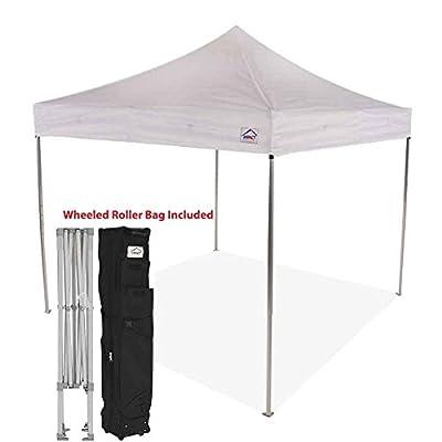 10x10 EZ Pop Up Canopy Tent Wedding Heavy Duty Commercial Grade Aluminum Folding Gazebo Tent with Roller Bag : Garden & Outdoor