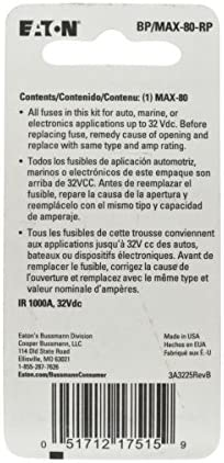 Bussmann MAX-80 Automotive Fuse 80 A 1 Pack MAX80-BUS