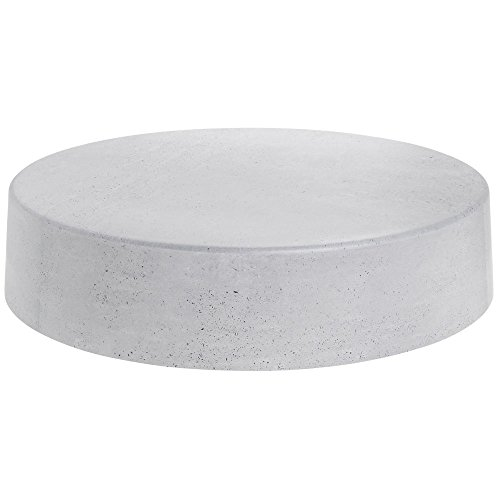 Round Grey Faux Concrete Riser - 18inch Dia x 4inch H by Expressly Hubert