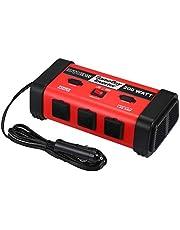 Tomshin Inversor de energia para carro 200W DC 12V a 110V Conversor de onda senoidal modificado com porta USB para aparelhos domésticos de smartphone e laptop