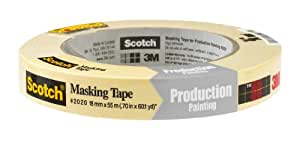 Scotch Masking Tape for Production Painting, 0.7-Inch by 60.1-Yard
