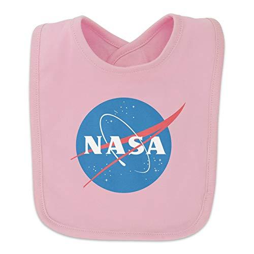 NASA Official Meatball Logo Baby Bib - Pink