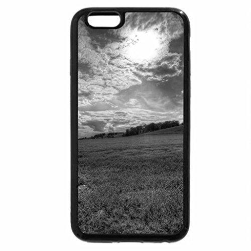 iPhone 6S Plus Case, iPhone 6 Plus Case (Black & White) - wonderful meadow landscape hdr