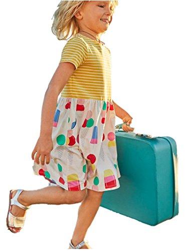 HILEELANG-Little-Girls-Cotton-Dress-Short-Sleeves-Casual-Summer-Striped-Printed-Shirt