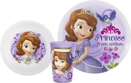 Zak Designs Sofia The First Plate, Bowl & Cup Gift Set, Princess Sofia, 2 piece set