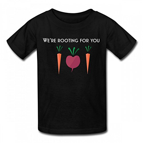 NMZNCW Health Nut Were ROOTING Fun Tshirt Cotton T-Shirts Best Quality Boy Girl Tee Black