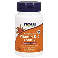 NOW Supplements, Vitamin D-3 5,000 IU, H...