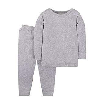 Lamaze Unisex-Baby LA3303645T18 Baby Organic 2 Piece Thermal Long John Set Underwear Set - Gray - 2T
