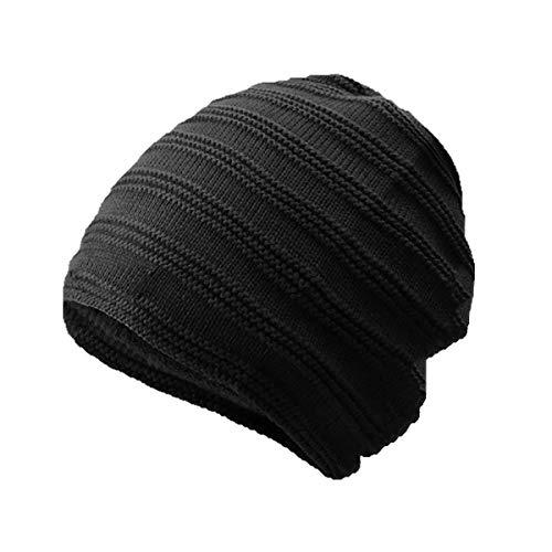 tamaño Invierno Color Willsego Terciopelo Cabeza la Grueso Hombres de Color de de más cálido tamaño Un Sombrero de A los Sombrero de de G sólido Punto Sombrero 7n7WqzU4