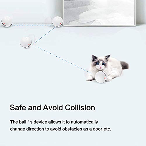 Cat Toys Ball Best Interactive Cat Toys Automatic Self-Rotating and USB Rechargeable LED Light Electronic Cat Toy Balls for Indoor Cats Exercise Toys (Newest Version) 5