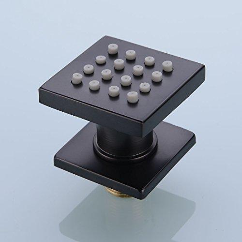 Square Solid Brass Body Jet Shower Spray Adjustable Massage Spa Side Sprayer In Wall Shower Set, Oil Rubbed Black Finish