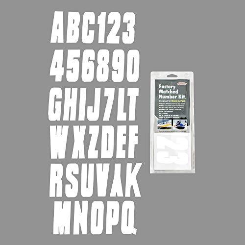 (Hardline Products WHI350EC Solid White HARD LETTER-NUMBER KIT)