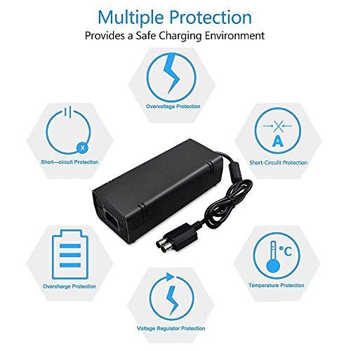 Semoic for Xbox 360 Slim AC Adapter Power Supply Brick Power Supply on