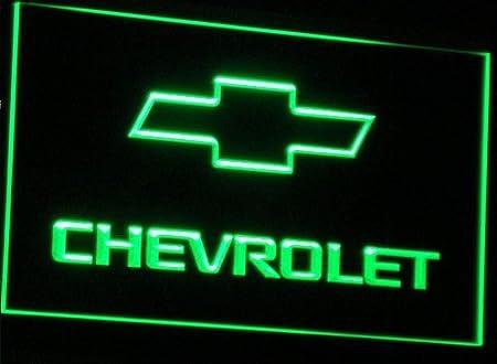 Chevrolet LED Caracteres Publicidad Neon Cartel Verde ...