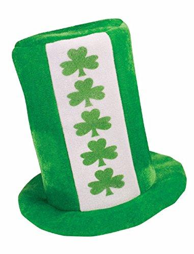Toucan Hat Costume (Green St. Patricks Day Tall Hat Costume Accessory Shamrock Adult Men Women's)