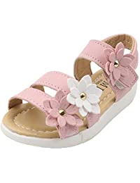 PPXID Toddler Little Girl's Princess Summer Flowers Sandals Roma Shoes