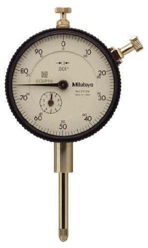 (Mitutoyo 2416S-10 Dial Indicator, #4-48 UNF Thread, 3/8