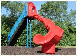Sports Play Equipment 902-319 8 ft. Independent Sect Slide, Left Veer by Sports Play Equipment
