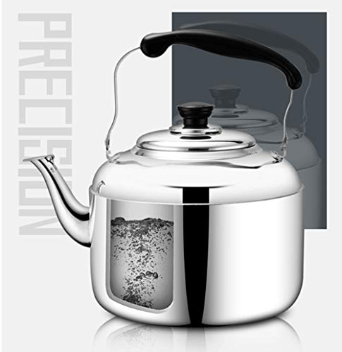 Extra Sturdy Stainless Steel Whistling Tea Kettle for Stovetop Induction Cooker, 10 Quart by Towa (Image #4)