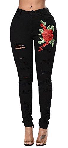 Popoye Donna Jeans Popoye Jeans Nero Donna ZnFxnS6qw
