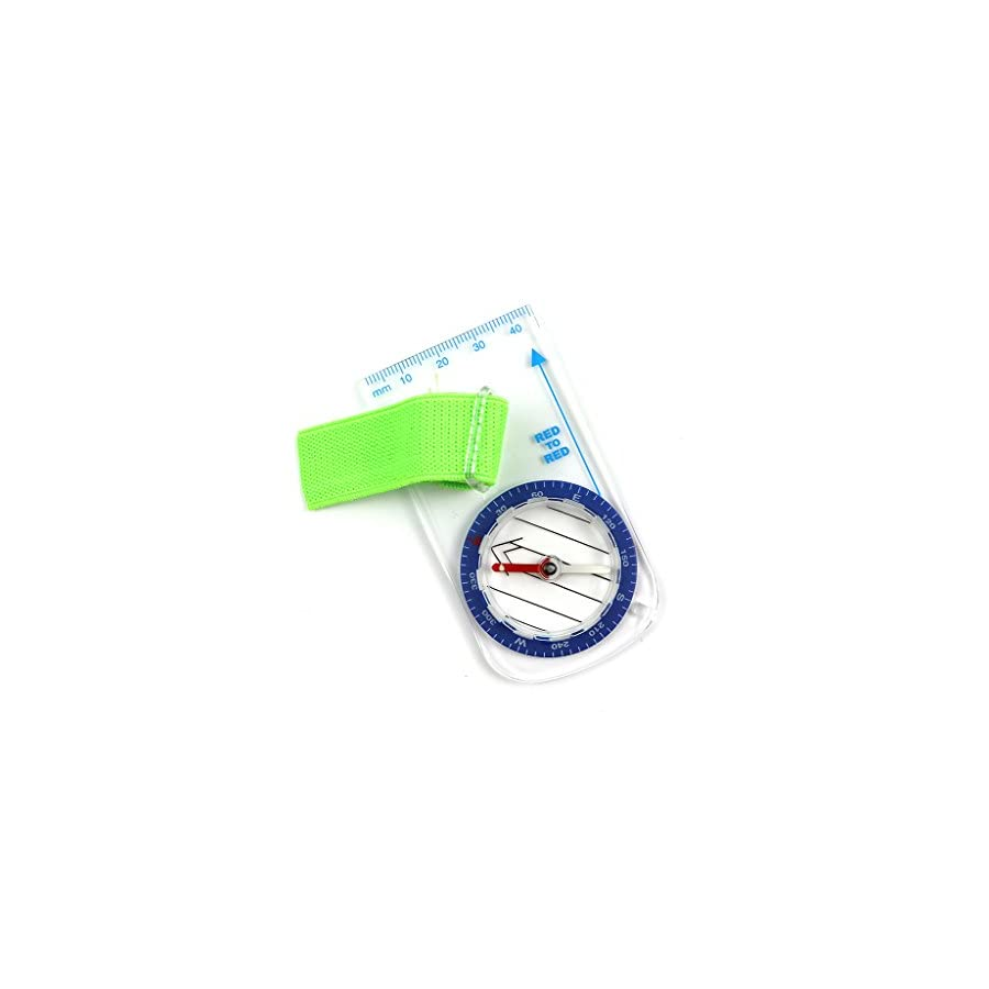 Funtalker Mini Thumb Compass with Map Scale Outdoor Orienteering Hiking Camping Bicycle Scouts Camping Hiking Orienteering Camping