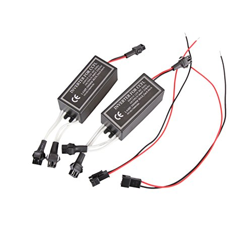 2PC CCFL Halo Ring Angel Eye Lights Inverter Ballast Replacement 12V Input Male From Madlife Garage - Ccfl Angel Eyes Halo Ring