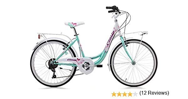 Cicli Cinzia - Bicicleta Liberty de niña, cuadro de acero, dos tallas disponibles, Acqua Marina / Bianco: Amazon.es: Deportes y aire libre