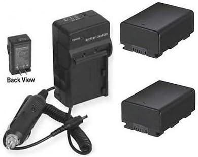 2個のバッテリーと充電器。サムスン HMXH204、サムスン HMXH204BNXAA、サムスン HMXH204RN、サムスン HMXH204LN用。