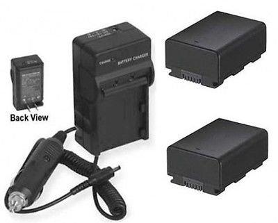 2電池+充電器for Samsung smx-f401rn、SAMSUNG smx-f401rp、SAMSUNG smxf401sp、SAMSUNG hmx-h200rn B01DNAATOK